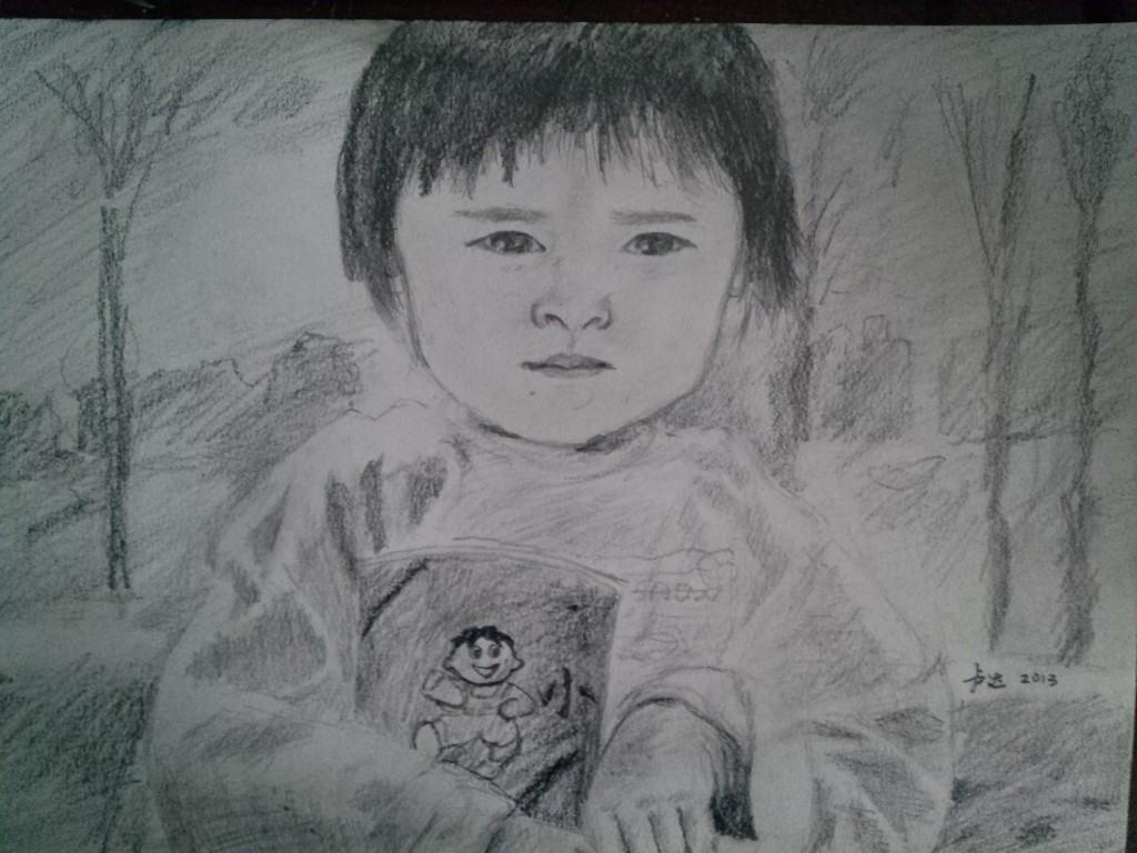 抱旺仔小馒头的小女孩儿,松江生态园,2013年